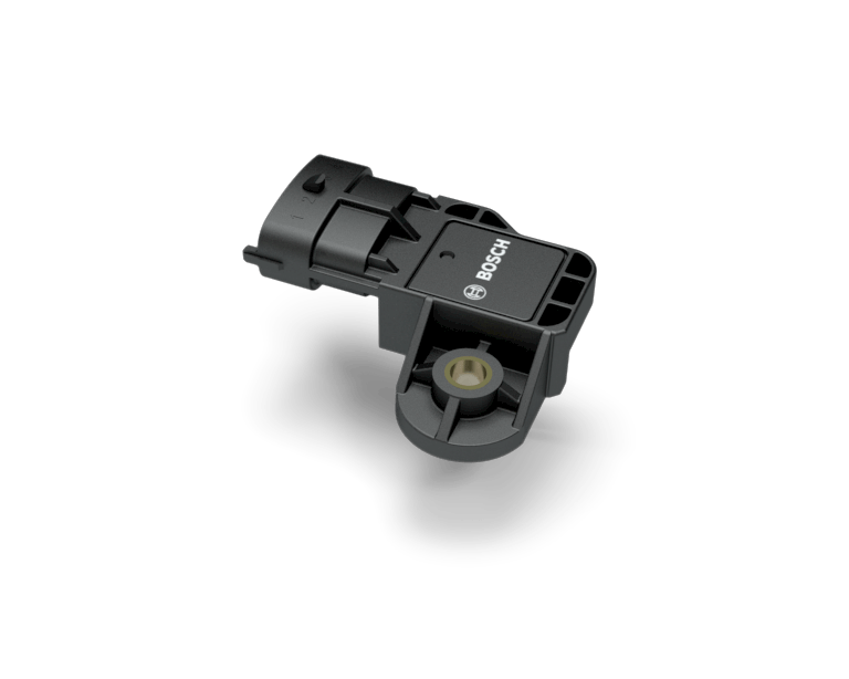Boost pressure sensor with temperatur sensor