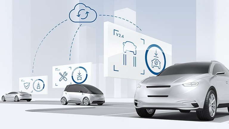 Updates over the air. Bosch keeps cars up to date – securely