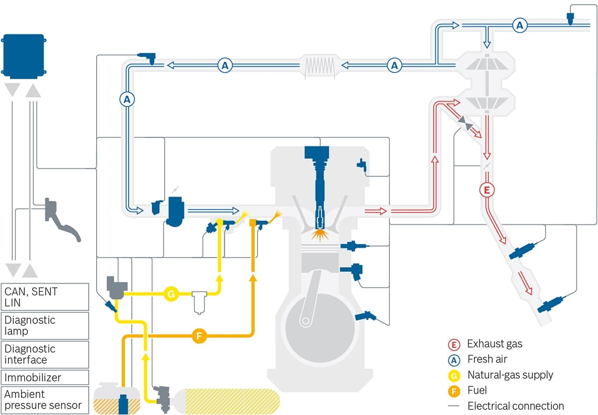 System graphic compressed natural gas
