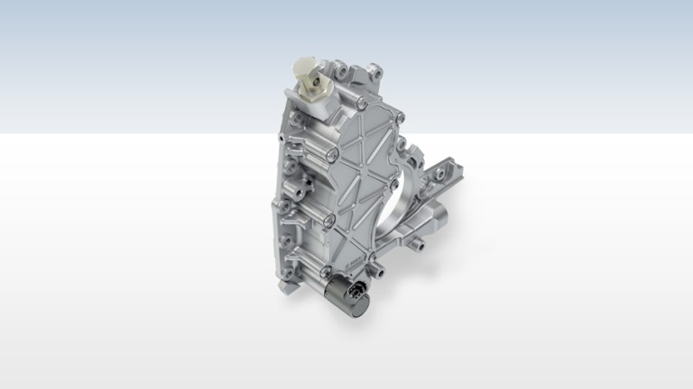 Combined vacuum and engine oil pump
