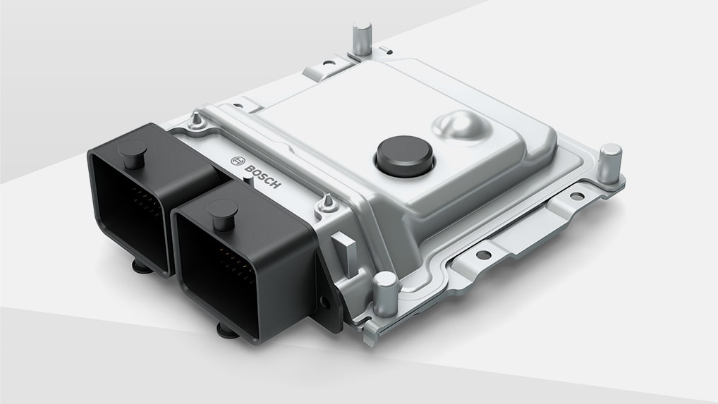 Detailed view of Engine control unit for high-performance bikes